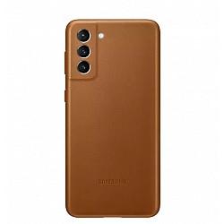 Кожен калъф Samsung S21+ Brown