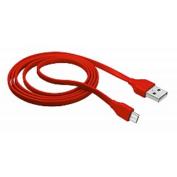 Micro-USB кабел TRUST Flat 1m - red